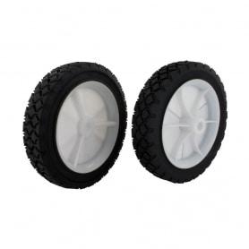 Roue en plastique à moyeu déporté universelle - diamètre extérieur 178 mm