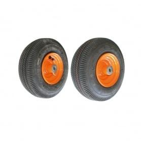 Roue complète avec roulement SCAG - diamètre intérieur 15,87mm 410 x 350 x 5 (4 plis) 48537