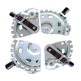 Kit de 4 relevages de roue à adapter sur carter tondeuse - 7 positions de hauteur - 2 sachets de 2 pièces