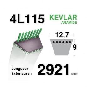 Courroie 4L1150 - 4L115 - HUSQVARNA 532442781 - 583566401 - JONSERED - 14993 - JOHN DEERE - 107-17HS