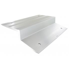 Jeu de deux sabots en aluminium pour rampes en bois