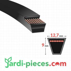 Courroie Traction hydrostatique BESTGREEN ICT16 (42 et 44 pouces - éjection arrière)