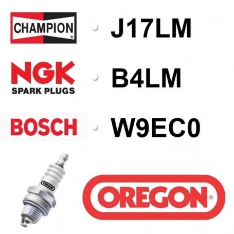 Bougie OREGON - CHAMPION j17lm NGK b4lm BOSCH w9ec0