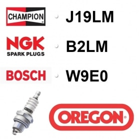 Bougie OREGON - CHAMPION j19lm NGK b2lm BOSCH w9e0