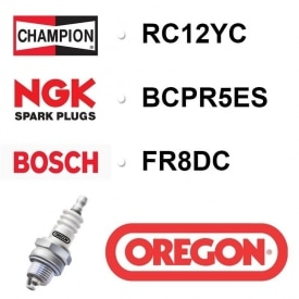 Bougie OREGON - CHAMPION rc12yc NGK bcpr5es BOSCH fr8dc