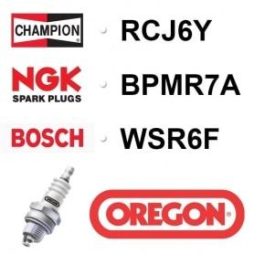 Bougie OREGON - CHAMPION rcj6y NGK bpmr7a BOSCH wsr6f