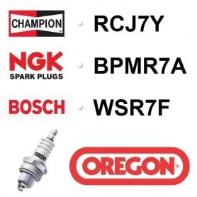 Bougie OREGON - CHAMPION rcj7y NGK bpmr7a BOSCH wsr7f