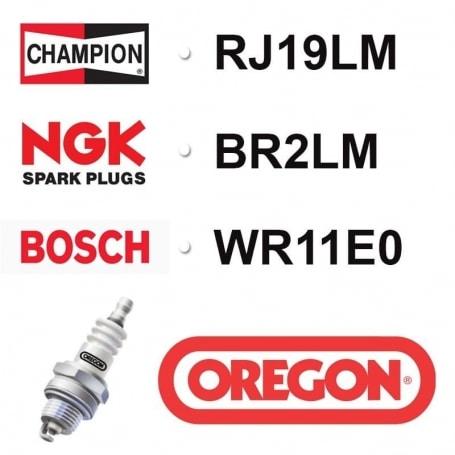 Bougie OREGON - CHAMPION rj19lm NGK br2lm BOSCH wr11e0