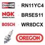 Bougie OREGON - CHAMPION rn11yc4 NGK br5es11 BOSCH wr8dcx