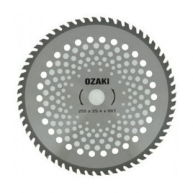 Lame débroussailleuse OZAKI - 60 dents pointes carbure