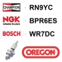 Bougie OREGON - CHAMPION rn9yc NGK bpr6es BOSCH wr7dc