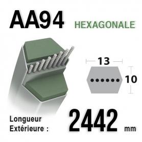 Courroie aa94 longueur 2442 mm MTD 75404174 - 754-04174