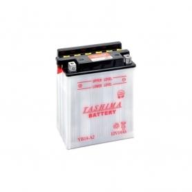 Batterie YB14A2 + à gauche