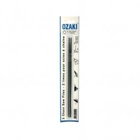Jeu de 2 limes rondes OZAKI diamètre 5,5 mm Longueur 20 cm