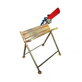 Chevalet de tronçonnage en acier galvanisé avec fixation pour tronçonneuse