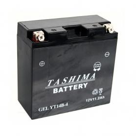 Batterie gel YT14B4 + à gauche