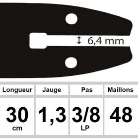Guide OZAKI 30  cm 3/8LP 1,3mm