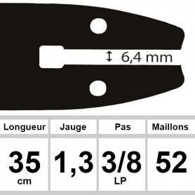Guide OZAKI 35  cm 3/8LP 1,3mm