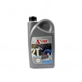 Huile moteur 2 temps 2L X'OIL 100% synthèse API TC