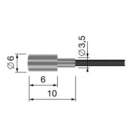 Câble souple 19 fils - Longueur 2500 mm - Diamètre 2 mm