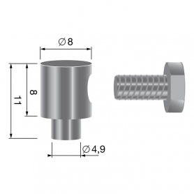 Serre câble - diamètre 2,5 mm