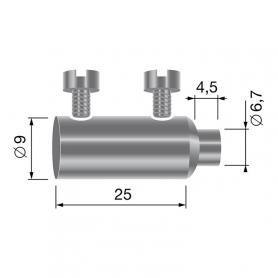 Serre câble double - diamètre 3 mm