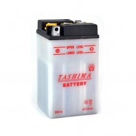 Batterie B496 + à gauche