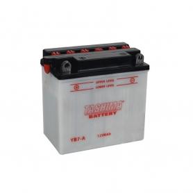 Batterie YB7A + à gauche