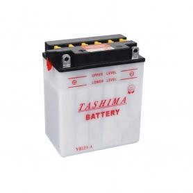 Batterie YB12AA + à gauche