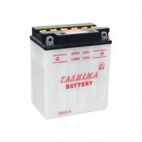 Batterie YB12AB + à gauche