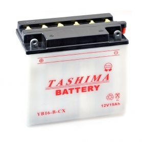Batterie YB16BCX + à gauche