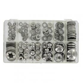 Coffret de pastilles d'arrêt clips - 190 pièces
