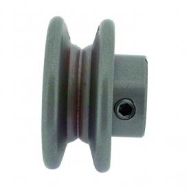 Poulie clavetée à gorge trapézoïdale diamètre extérieur 101,6 mm - diamètre int 25,4 mm