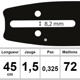 Guide OZAKI 45 cm 0,325 1,5mm