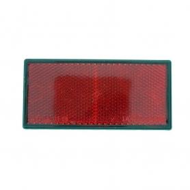 Catadioptre adhésif rouge rectangulaire 105x48 mm