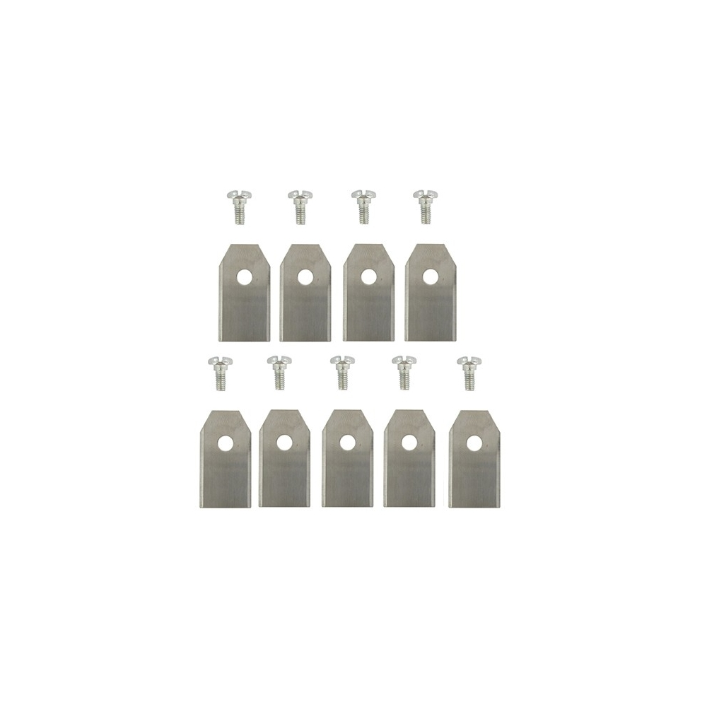 jeu de 9 lames robot tondeuse husqvarna 9668095-01 pour gardena