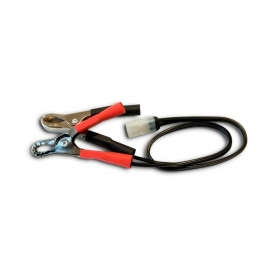 Connexion avec pinces TECMATE pour chargeur de batterie