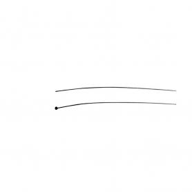 Câble souple UNIVERSEL à embout tonneau diamètre 6 mm - longueur 2500 mm