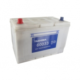 Batterie 12V 100A/H - borne + à gauche - TASHIMA pour modèles KUBOTA