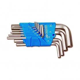 Jeu de clés mâles coudées GEDORE 1,3 à 10 mm