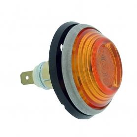 Feu clignoteur latéral orange rond