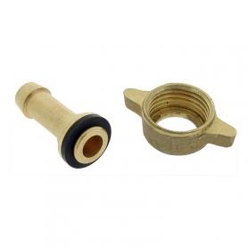 Raccord de jonction droit et écrous G1/2 - Diamètre 8 mm