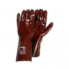 Paire de gants PVC UNIVERSEL protection acide taille L - Norme EN420 - EN388 EN374