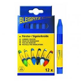 Boite de 12 craies de marquage bleue BLEISPITZ