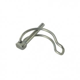 Goupille diamètre 6 mm à clips - avec anneau