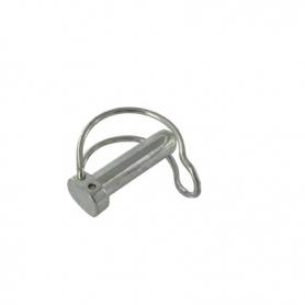 Goupille diamètre 10 mm à clips - avec anneau