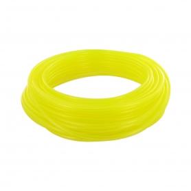 Durite jaune translucide longueur 15m - diamètre intérieur 2,5mm extérieur 5mm