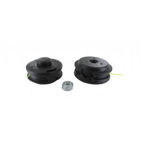 Tête fil nylon universelle TECOMEC semi-automatique. Peut accepter des diamètres de fil de 2,0mm à 3,5mm.