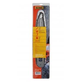 Guide + Chaîne OZAKI 40cm 3/8LP .050 56 maillons Montage C