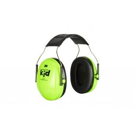 Casque anti-bruit 3M Peltor modèle enfant vert néon